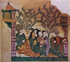 """Музиканти"""": една от картините на иракския художник ал-Уасити от от ХІІІ-ти век"""